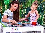 Детский стульчик Noofik для световых столов (МДФ, белый), фото 3