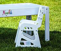 Детский стульчик Noofik для световых столов (МДФ, белый)
