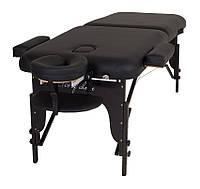Складной массажный стол регулируемый на деревянных ножках мод.BAS