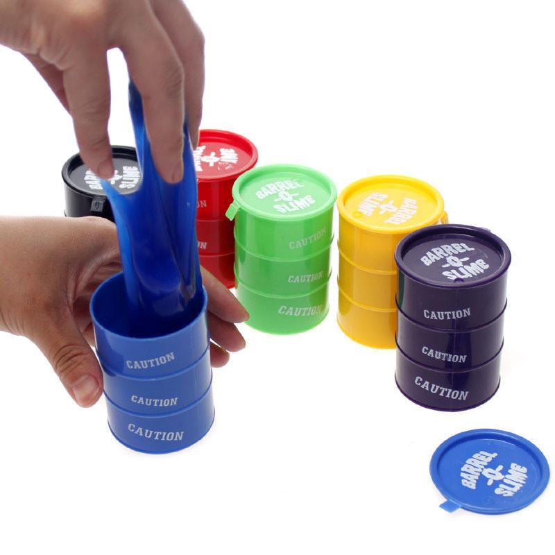 Детская игрушка желеобразный лизун в бочке BARREL O SLIME Z-039 6 цветов | слайм