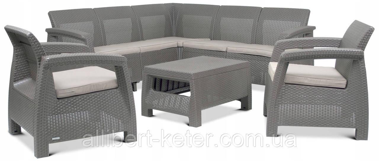 Набор садовой мебели Corfu Relax Set Duo Cappuccino ( капучино ) из искусственного ротанга (Allibert by Keter)