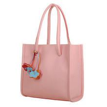 Женская сумка шоппер пляжная летние цвета легкая повседневная кожзам