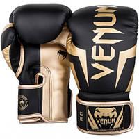 Оригинальные Боксерские Перчатки Venum Elite Boxing Gloves - Black/Gold