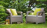 Набор садовой мебели Corfu Relax Set Duo Cappuccino ( капучино ) из искусственного ротанга (Allibert by Keter), фото 8