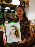 Подарок для подруги, сестры на день рождения, портрет на заказ, ручная работа