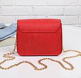 Красивые сумки женские Terra клатч с цепочкой на плечо песочный розовый зеленый красный, фото 6