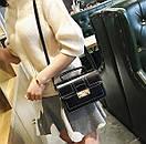 Женская черная сумка портфель небольшой Milla кроссбоди, фото 2