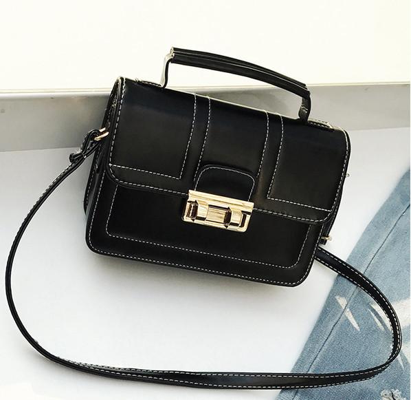 Женская черная сумка портфель небольшой Milla кроссбоди
