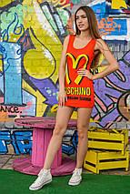 Яркое платье   Moschino sk, фото 3