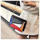 Модный клатч Летние женские сумки Kleo яркий разноцветный с цепочкой, фото 2