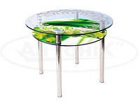 Стеклянный кухонный стол КС-3