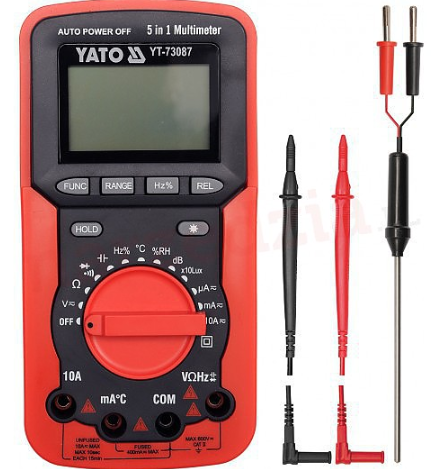 Цифровой счетчик 5 в 1 Yato YT-73087