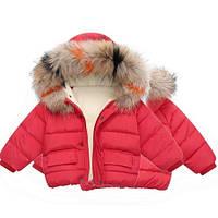 Тёплая куртка для мальчика на осень. Красная куртка на теплую зиму. Размеры 90,100,110,120,130