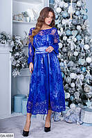 Женское стильное платье с кружевом
