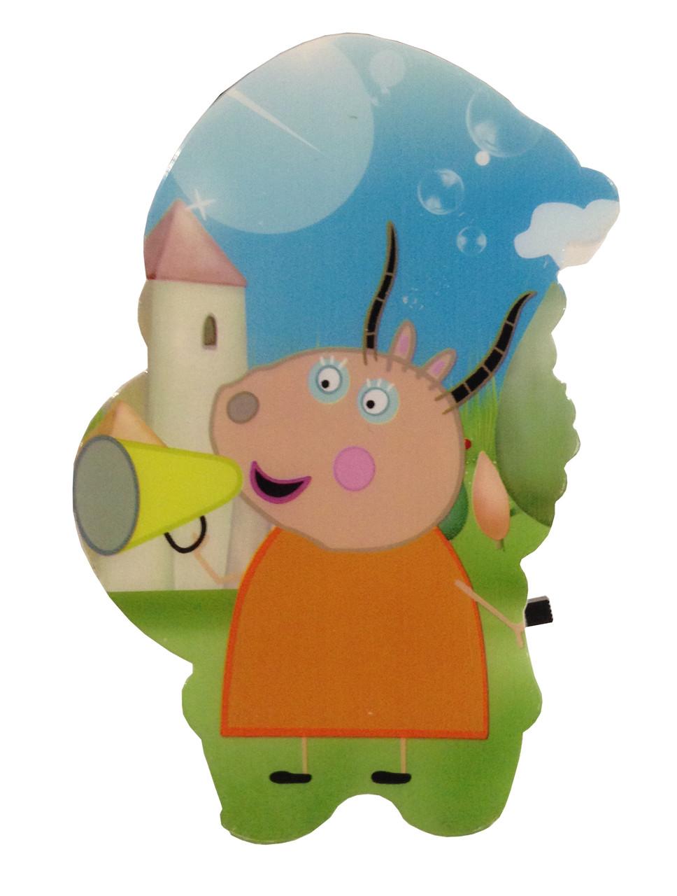 Нічник дитячий LED Свинка Пеппа 1,0W LU-ND-0001-18 (240шт/ящ) R