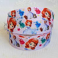 Лента репсовая Принцесса София, 2,5 см