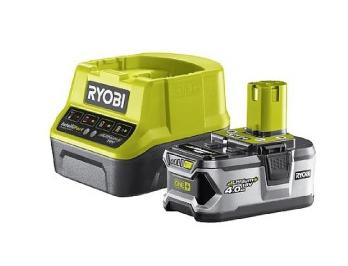 Аккумулятор 4.0Ah + зарядное устройство 18V Ryobi RC18120-140