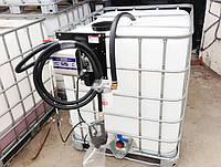 Мини АЗС для дизельного топлива на базе еврокуба