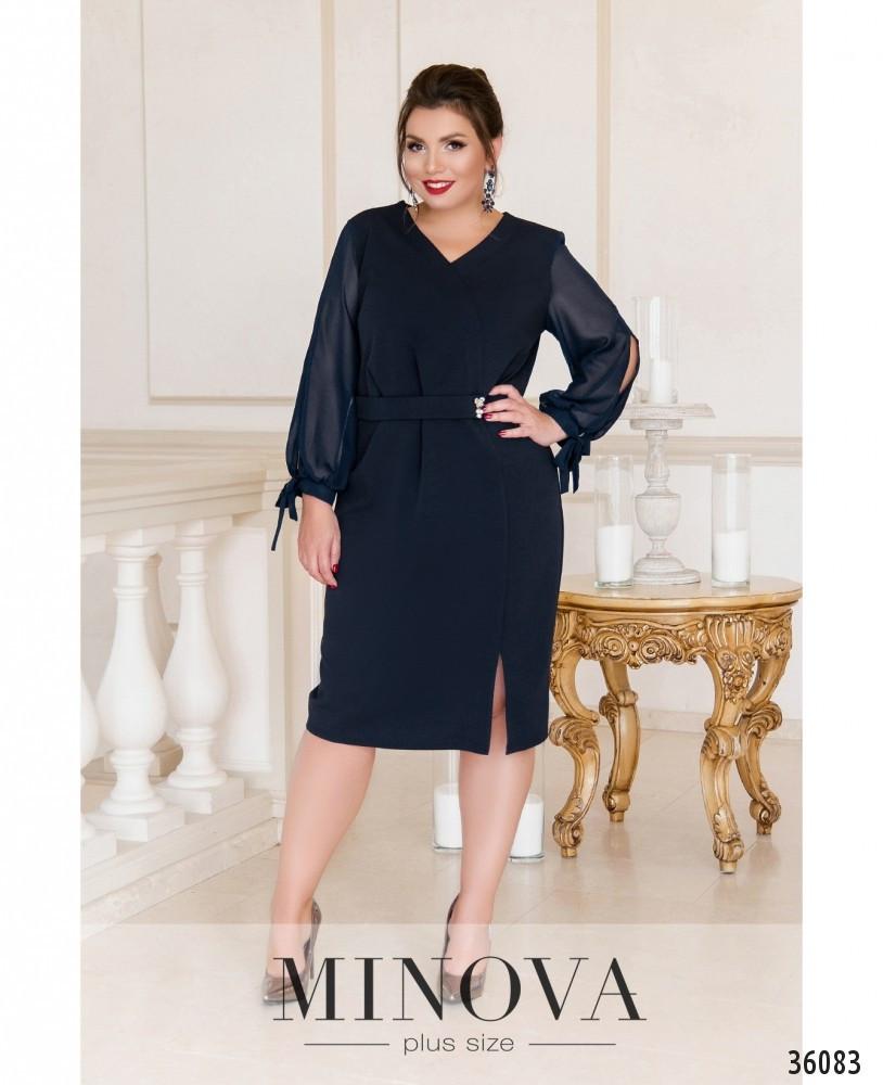 Платье женское строгое нарядное  большие размеры: 54,60
