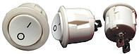 Перемикач 1 клав круглий білий (2 контакта) YL213-04 (KCD1-5-101 W/W) АНАЛОГИ R