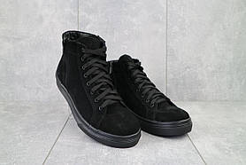 Ботинки мужские Vankristi 723 черные (замша, зима)