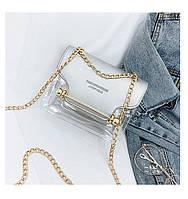 Модные летние сумки женские клатч прозрачная силиконовая 2 в 1 Fashion