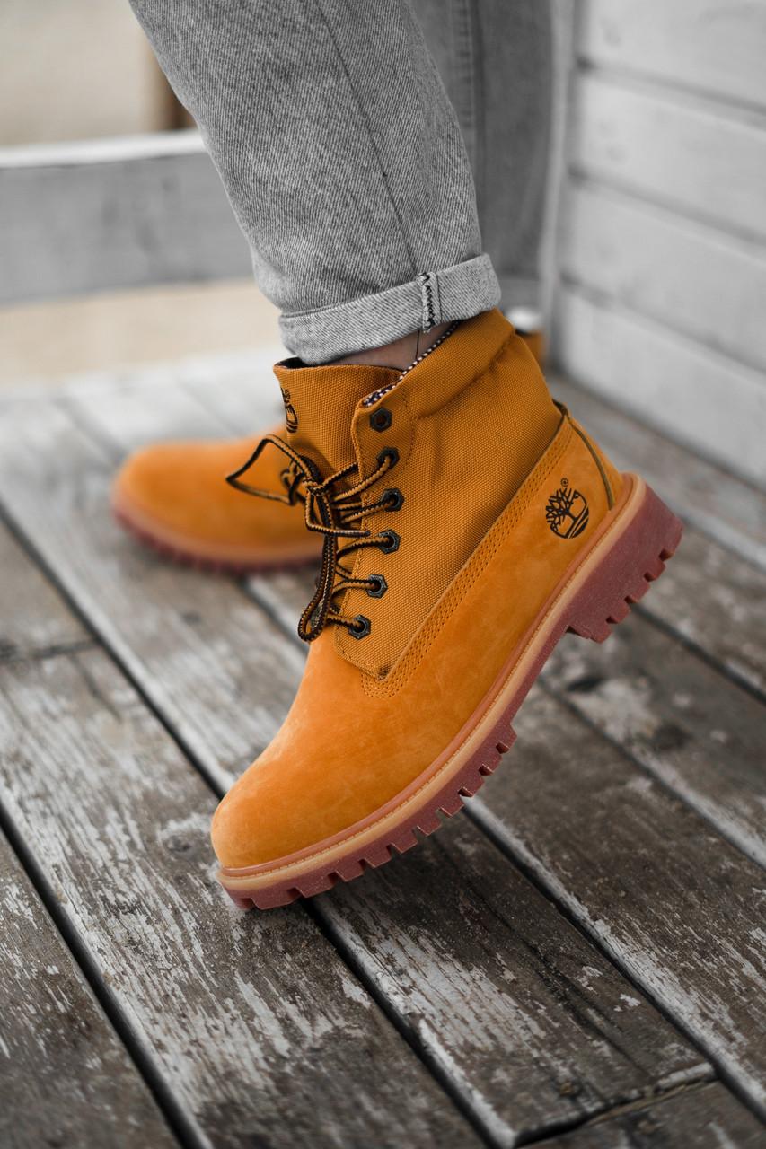 Женские ботинки Timberland из натуральной кожы (ДЕМИСЕЗОН)