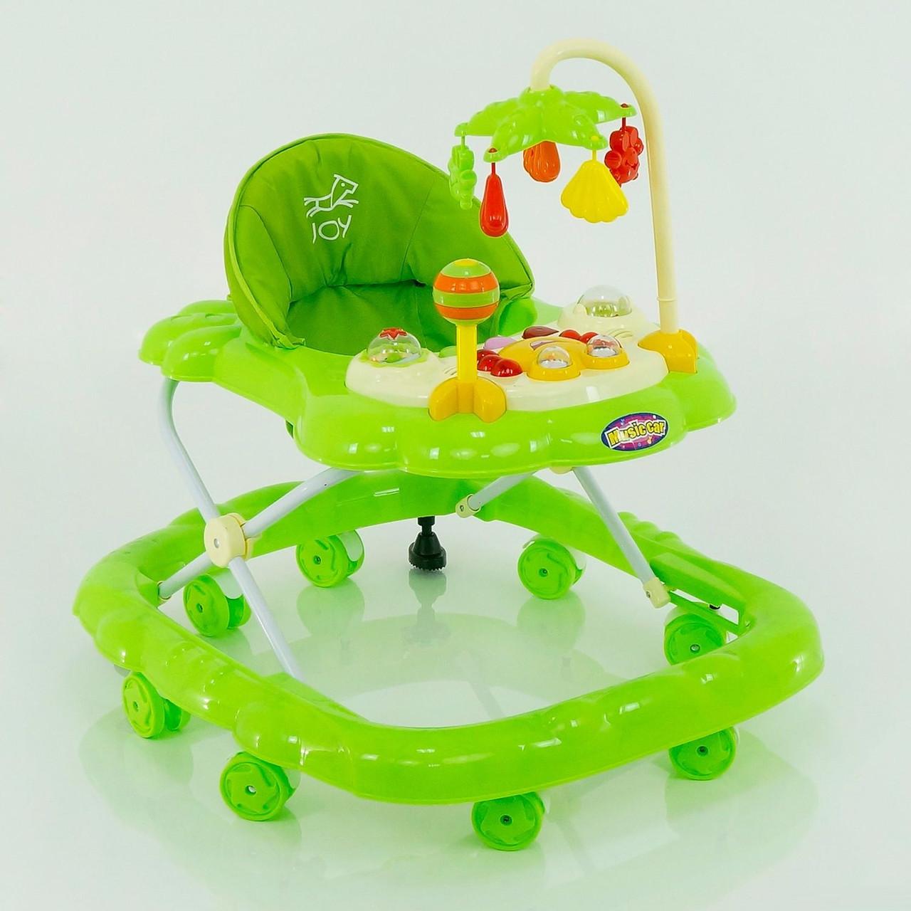 Детские ходунки музыкальные модель D28 (зеленые)