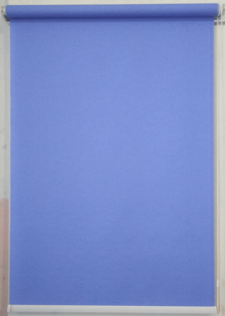 Рулонная штора 300*1500 Ткань Лён 874 Индиго