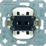 Выключатель для жалюзи 2-клавишный 10А/250В (механизм) Berker, фото 1