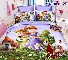 Детский евро комплект постельного белья Sofia new