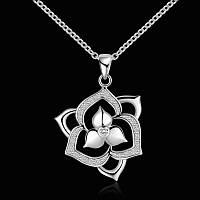 Подвеска на цепочке Цветочек покрытие 925 серебро