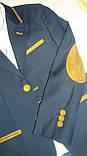 Піджак шкільний для хлопчика трикотажний з латками.Туреччина. Розмір 122-128, фото 2