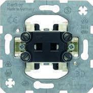 Кнопка для жалюзи 2-клавишная 10А/250В (механизм) Berker, фото 1