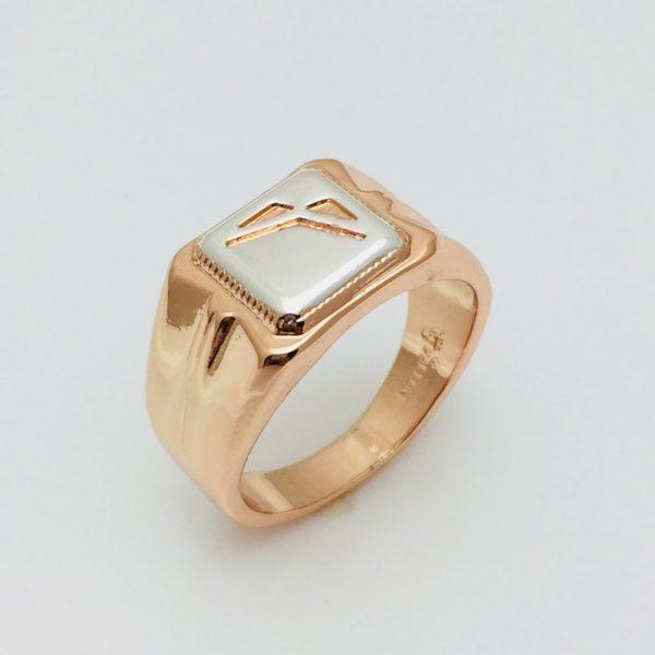 Мужской перстень с родием, размер 18, 19, 20, 21, 22