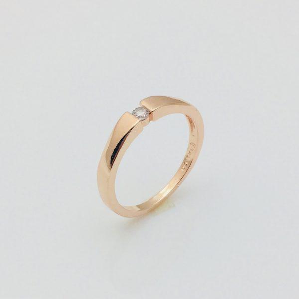 Кольцо Один камень, размер 17, 18, 19, 20  18К Fallon