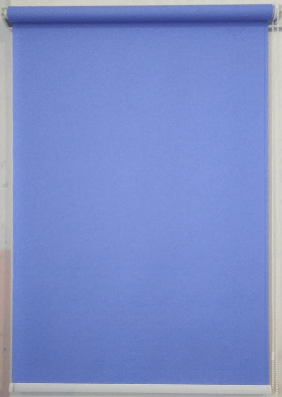 Рулонная штора 1350*1500 Ткань Лён 874 Индиго