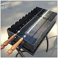 Шампур плоский, Шампур с деревянной ручкой, Шампур 71 см., фото 1