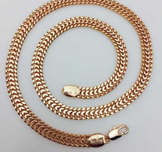 Цепочка, плетение Персидская ночь 55 см.D-7 Ювелирная бижутерия