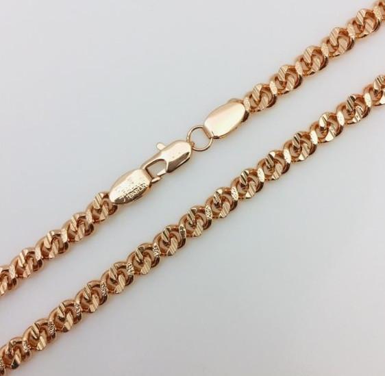 Цепочка на шею плетение Восьмерка 50 см H-0.6