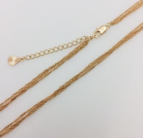 Ланцюжок на шию плетіння Фантазійне 45-51 см
