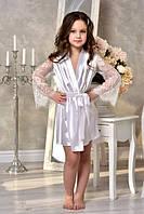 Атласные халаты для девочек