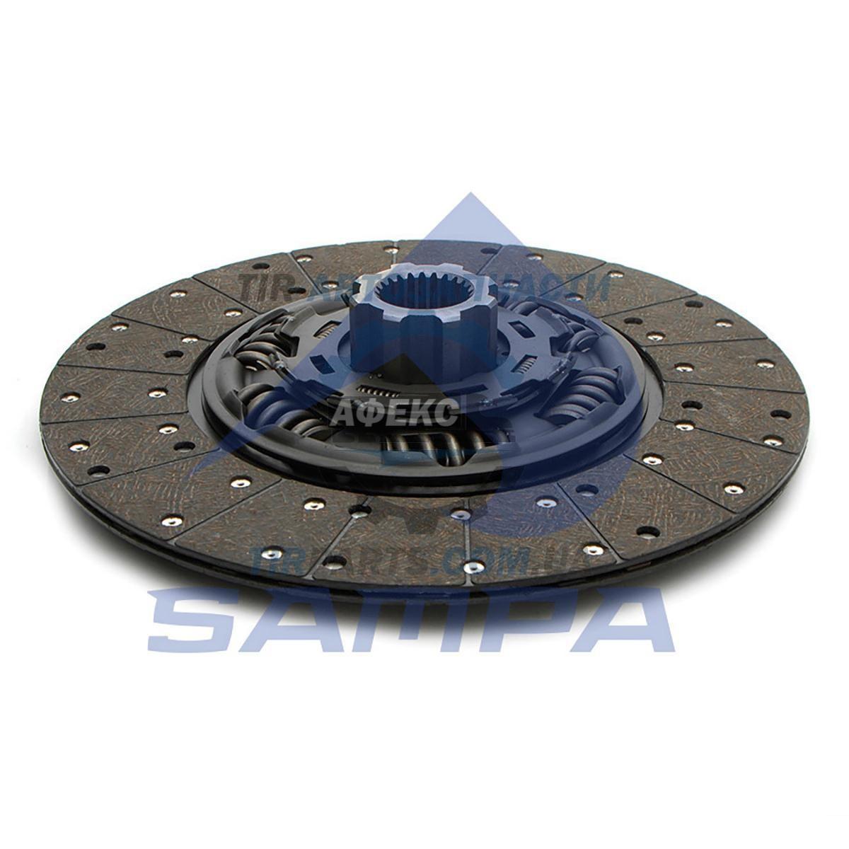 Диск сцепления D400 z24 VOLVO FH12 2-х диск. сцеп. 1-ый диск SACHS (20366591 | 032.277)