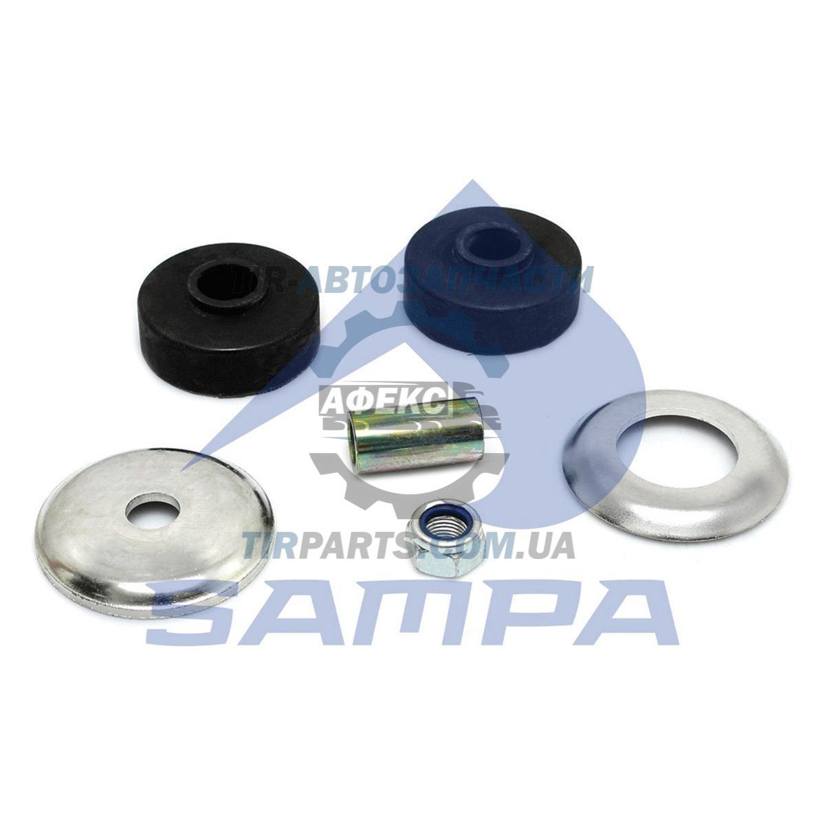 Ремкомплект крепления амортизатора (втулка1, гайка1, шайбы2,резин.втулки2) Scania P / R-Serie AM / AMA