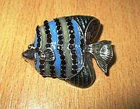 Яркая брошь- синяя коралловая рыбка от студии LadyStyle.Biz, фото 1