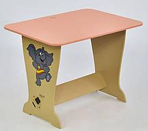"""Стол - парта 6233 """"Слон"""" - цвет розовый """"МАСЯ"""""""