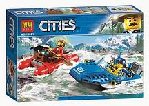 """Конструктор Bela 10861 (аналог Lego City 60176) """"Погоня по горной реке"""", 138 деталей"""