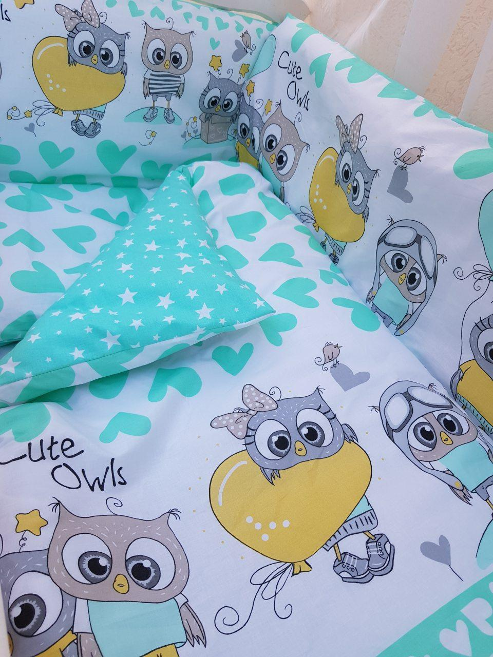 Детское постельное бельё в кроватку ТМ Bonna купон Бирюза