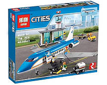 Конструктор Lepin 02043 (аналог Lego City 60104) Пассажирский терминал в аэропорту, 718 деталей