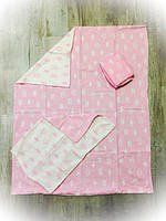 Детское сменное постельное бельё в кроватку ТМ Bonna Розовое